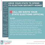 Action 11: Urge your state to spend its election security money.