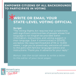 Action 16: Empower citizens of all backgrounds to participate in voting.
