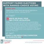 Support fairer elections with ranked-choice voting. [h/t FairVote]